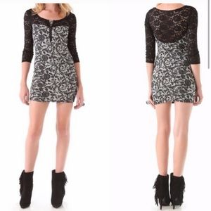 Free People Steampunk Lace Bodycon